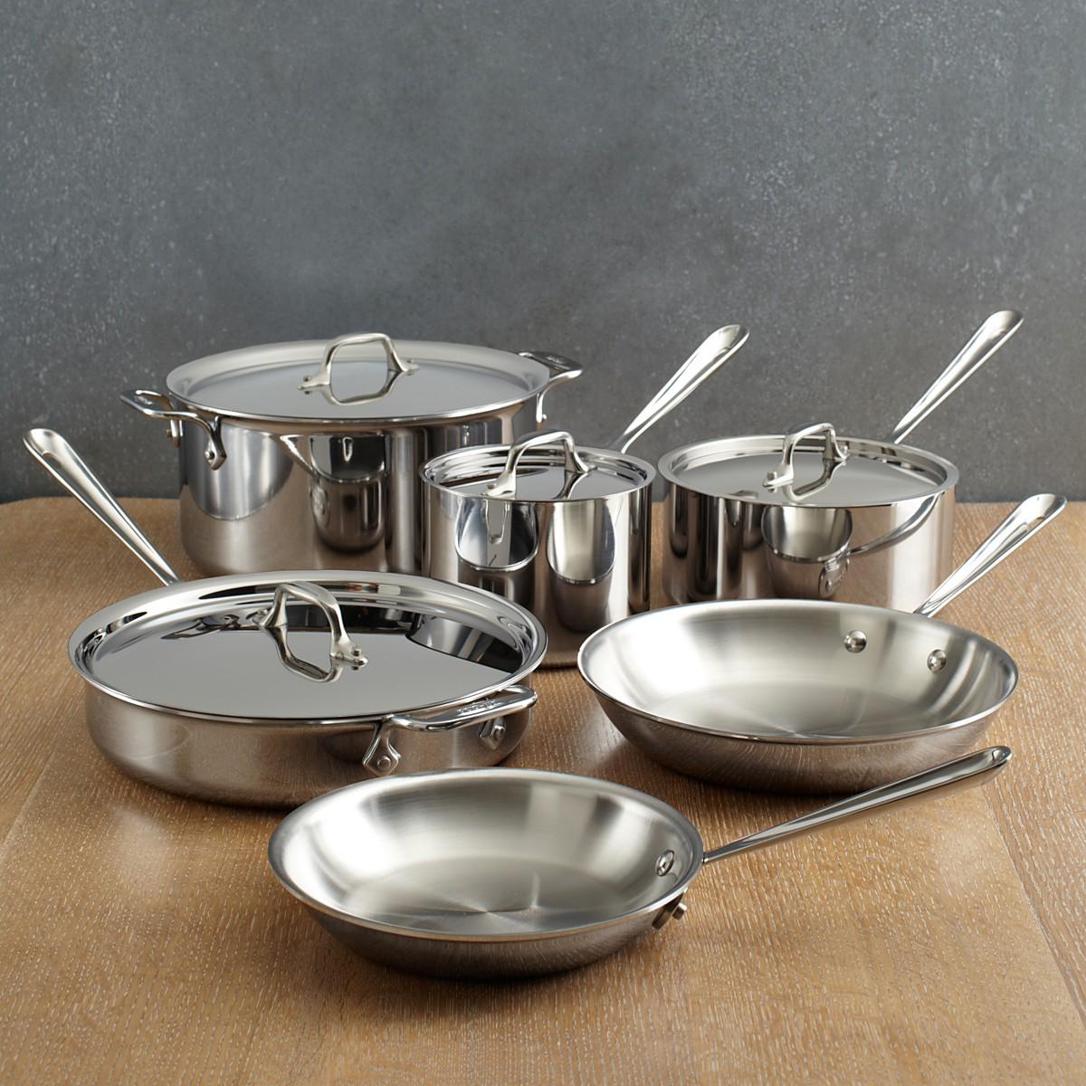 Набор от All-Clad посуды из нержавеющей стали