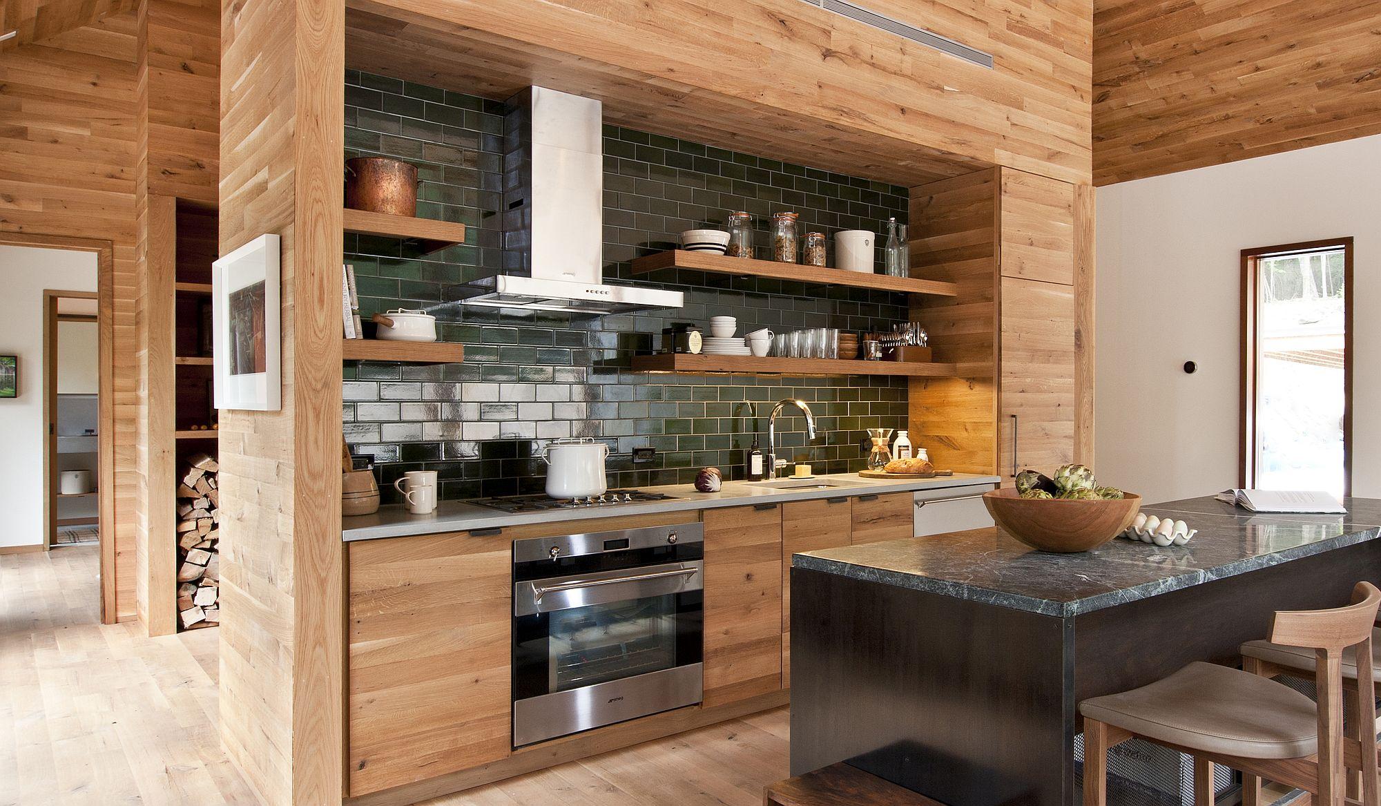 Стильный дизайн чёрно-серой кухни - фото 17
