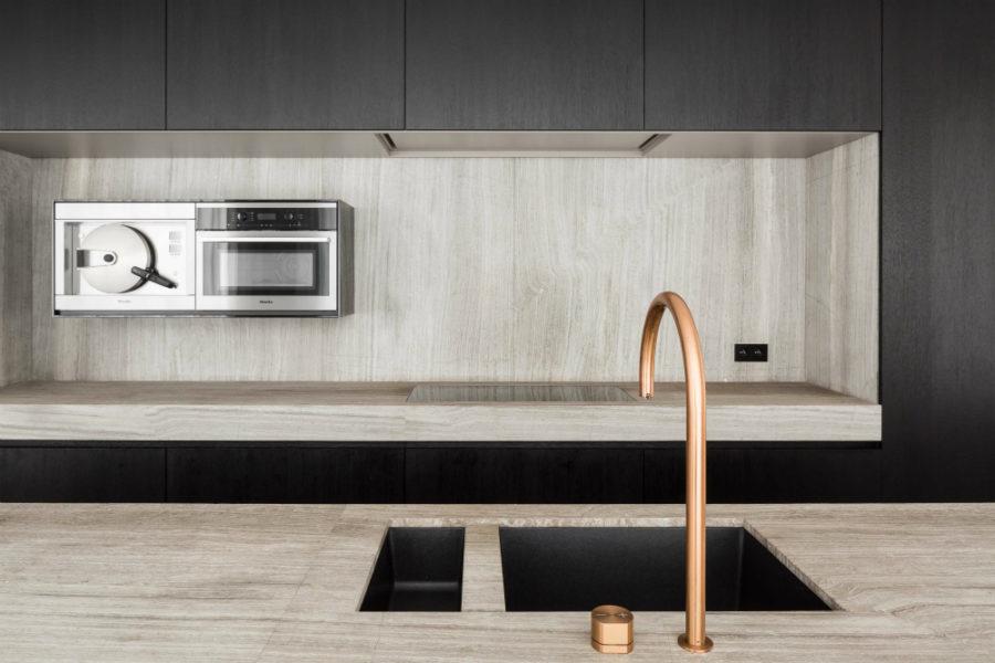 Оригинальный дизайн раковин для кухни - двойная чаша