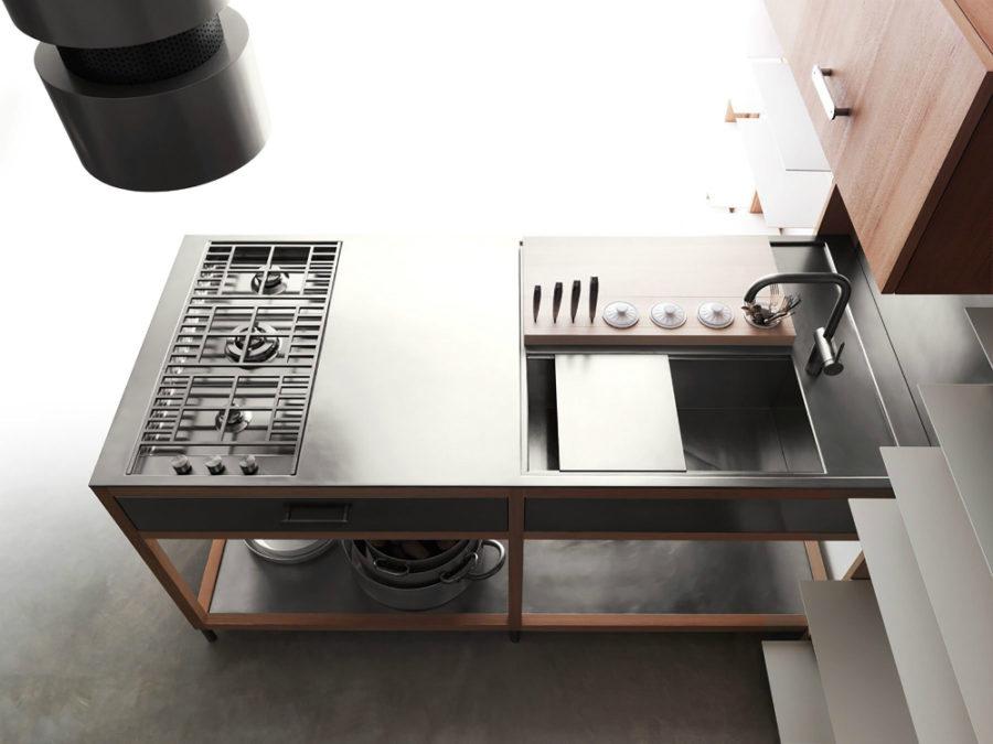 Оригинальный дизайн раковин для кухни - раковина в чёрном цвете