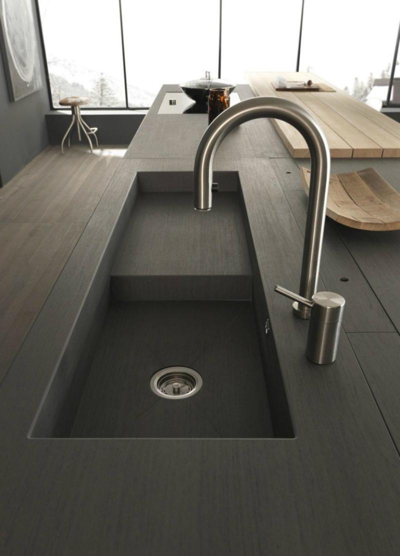 Оригинальный дизайн раковин для кухни - неглубокая раковина от Gallani Arredamenti