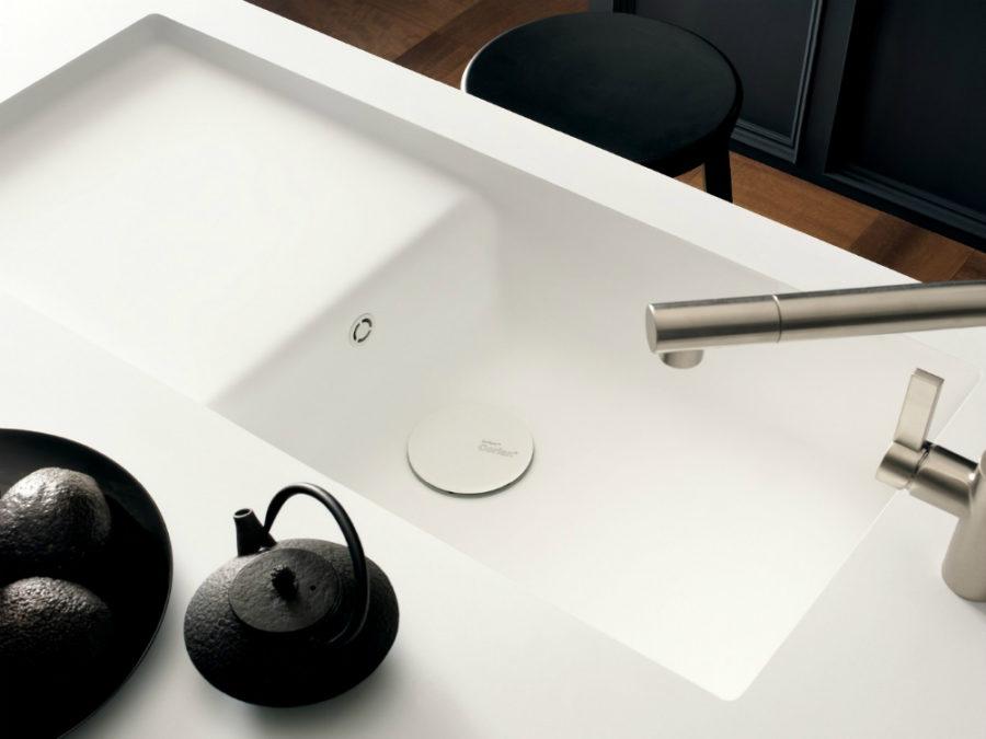 Оригинальный дизайн раковин для кухни - неглубокая раковина