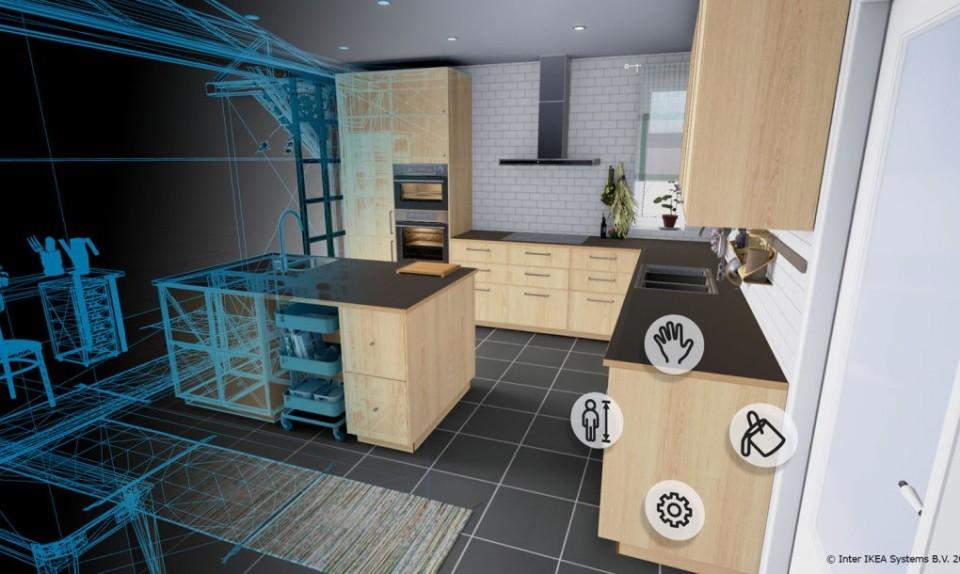 Приложение для дизайна кухни IKEA VR