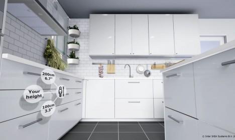 Автоматический подбор мебели по росту в приложении IKEA VR