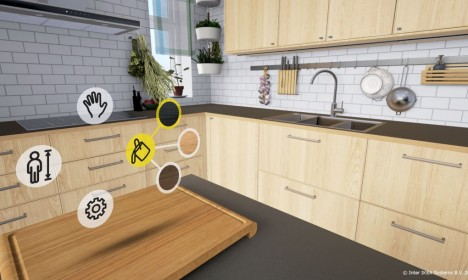 Интерфейс приложения IKEA VR