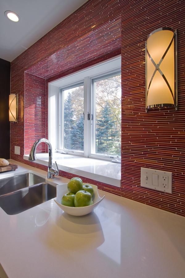 Красный кухонный фартук - фото 14