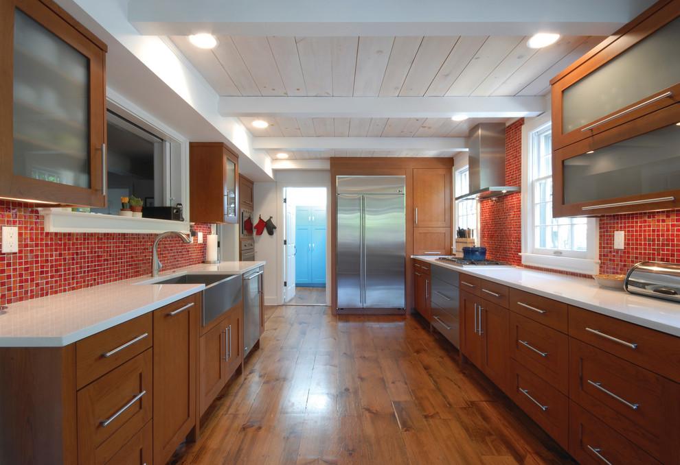 Красный кухонный фартук - фото 12