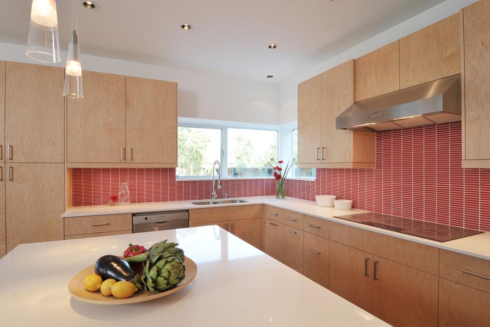 Красный кухонный фартук - фото 8