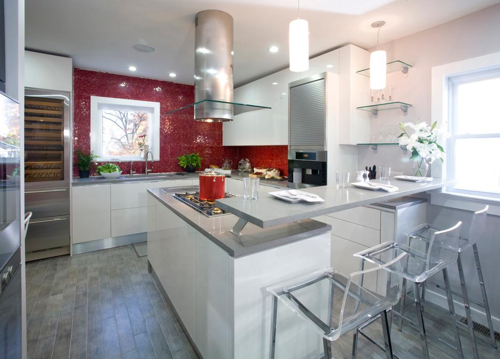 Красный кухонный фартук - фото 7
