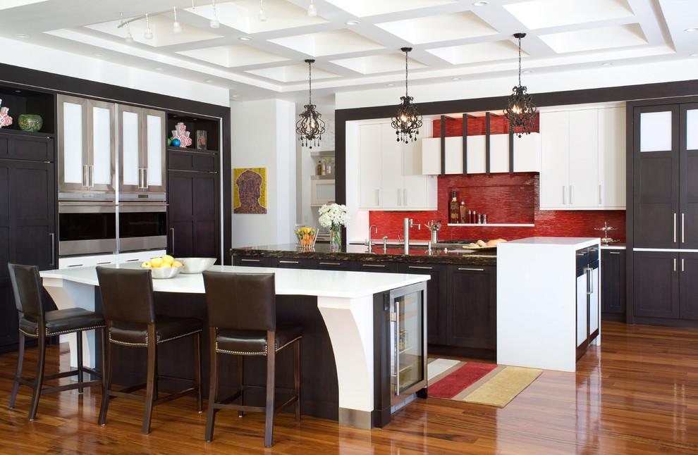 Красный кухонный фартук - фото 6