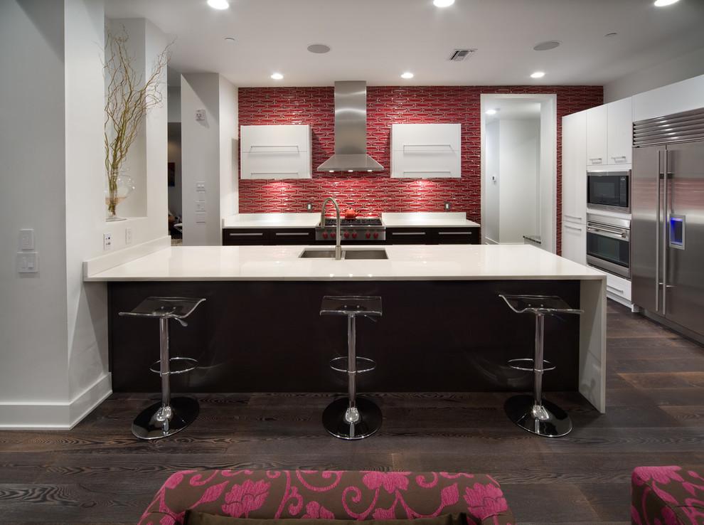 Красный кухонный фартук - фото 3