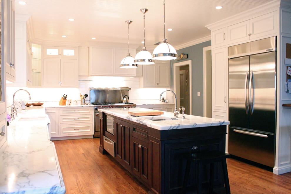 Оригинальное оформление кухонной столешницы от House of Cline Design