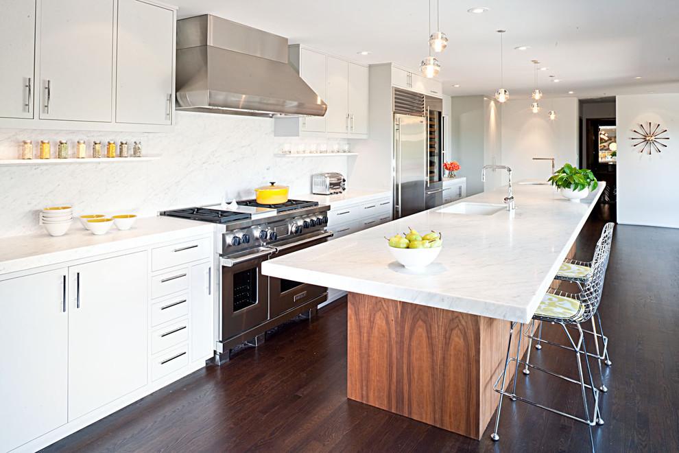 Оригинальное оформление кухонной столешницы от Jennifer Weiss Architecture