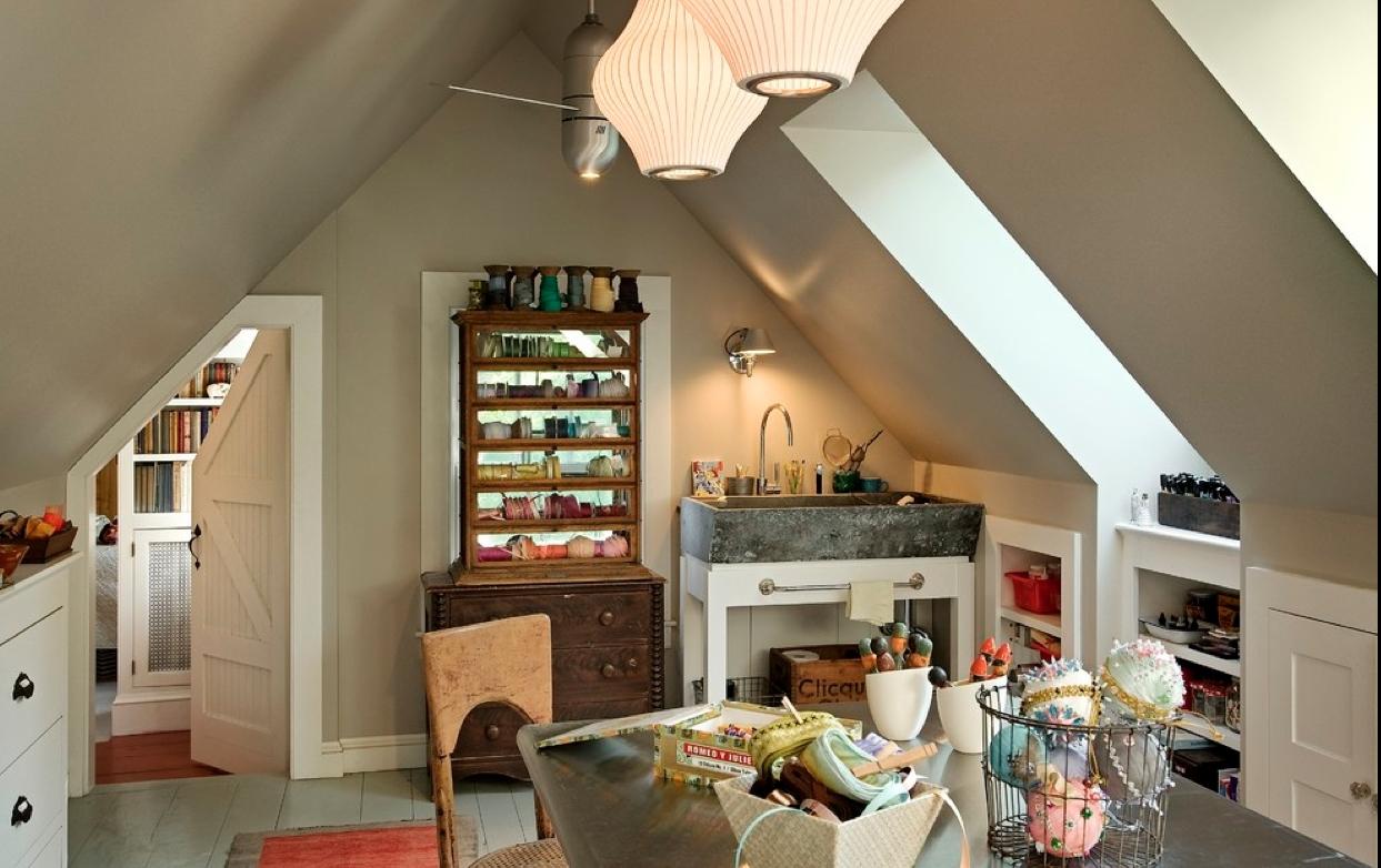 Антикварная мойка в интерьере современной лоф-кухни