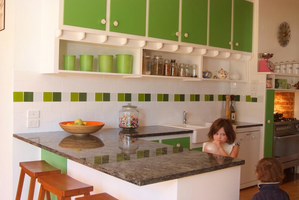 Ретро-дизайн интерьера кухни от Space Craft Joinery