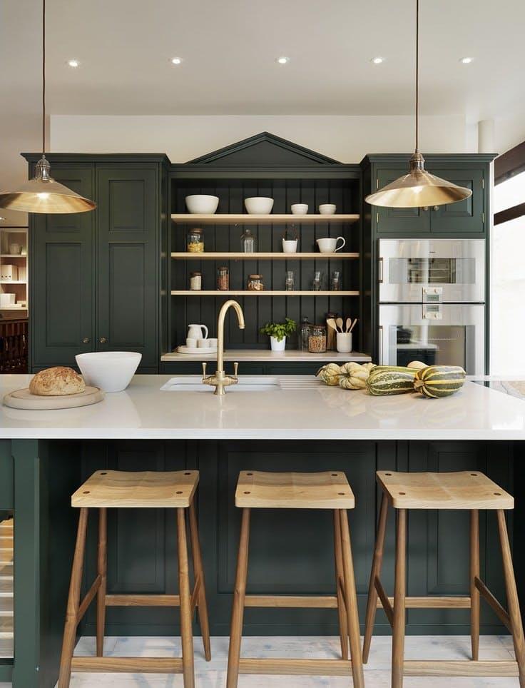 Винтажные кухни: безупречный фронтон