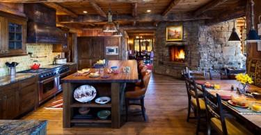 Оригинальный дизайн интерьера кухни в деревенском стиле