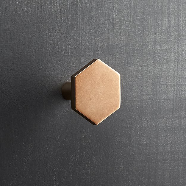 Медные мебельные ручки кухни в виде шестиугольника