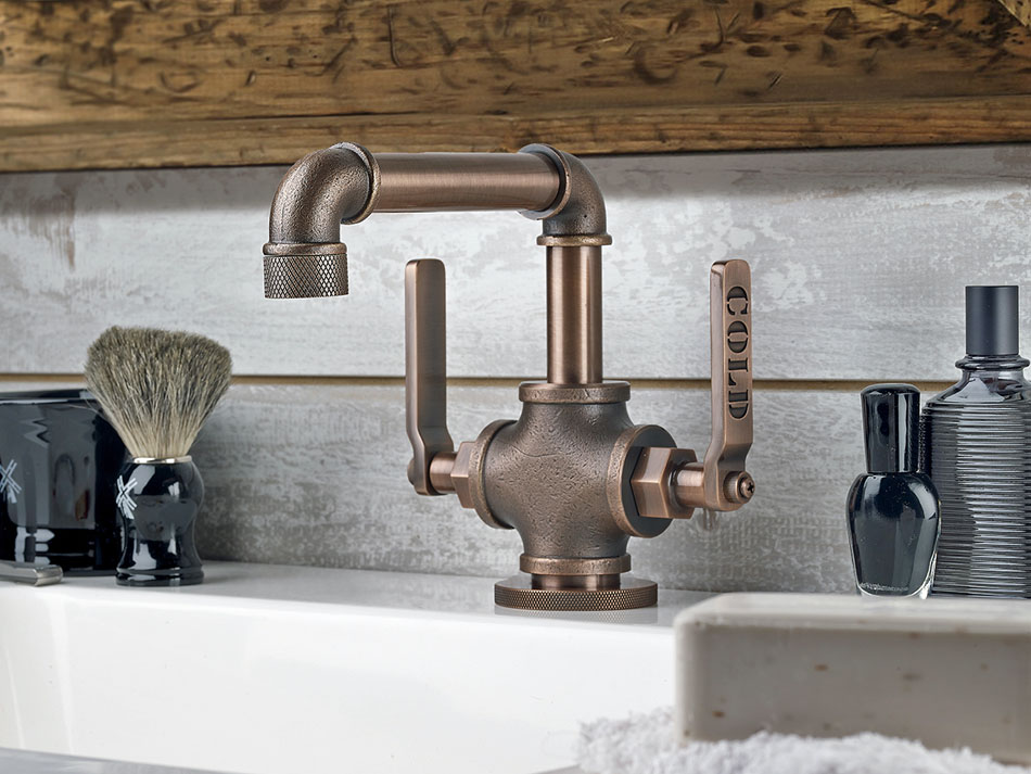 Industrial style bathrooms