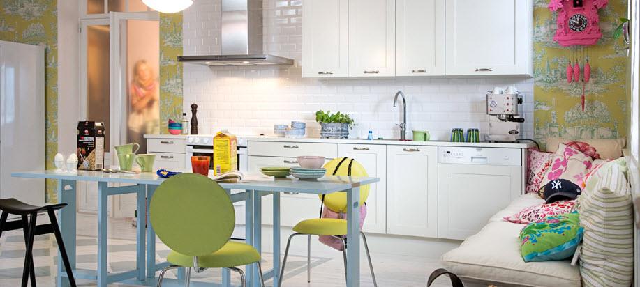 Дизайн интерьера кухни в скандинавском стиле от Marbodal