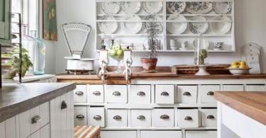 Дизайн интерьера кухни в стиле Shabby chic