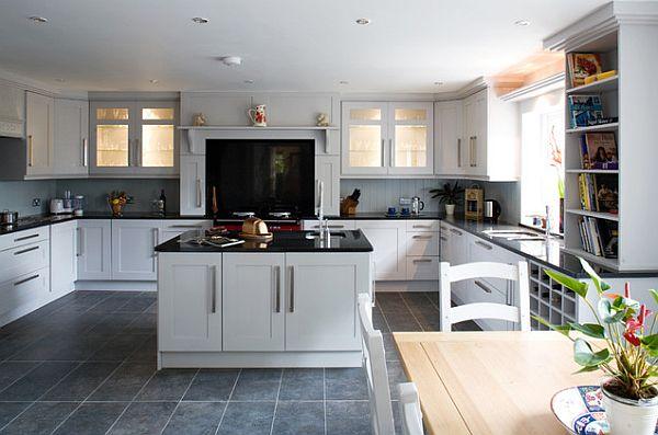 Оригинальный дизайн интерьера кухни в стиле «шейкер»