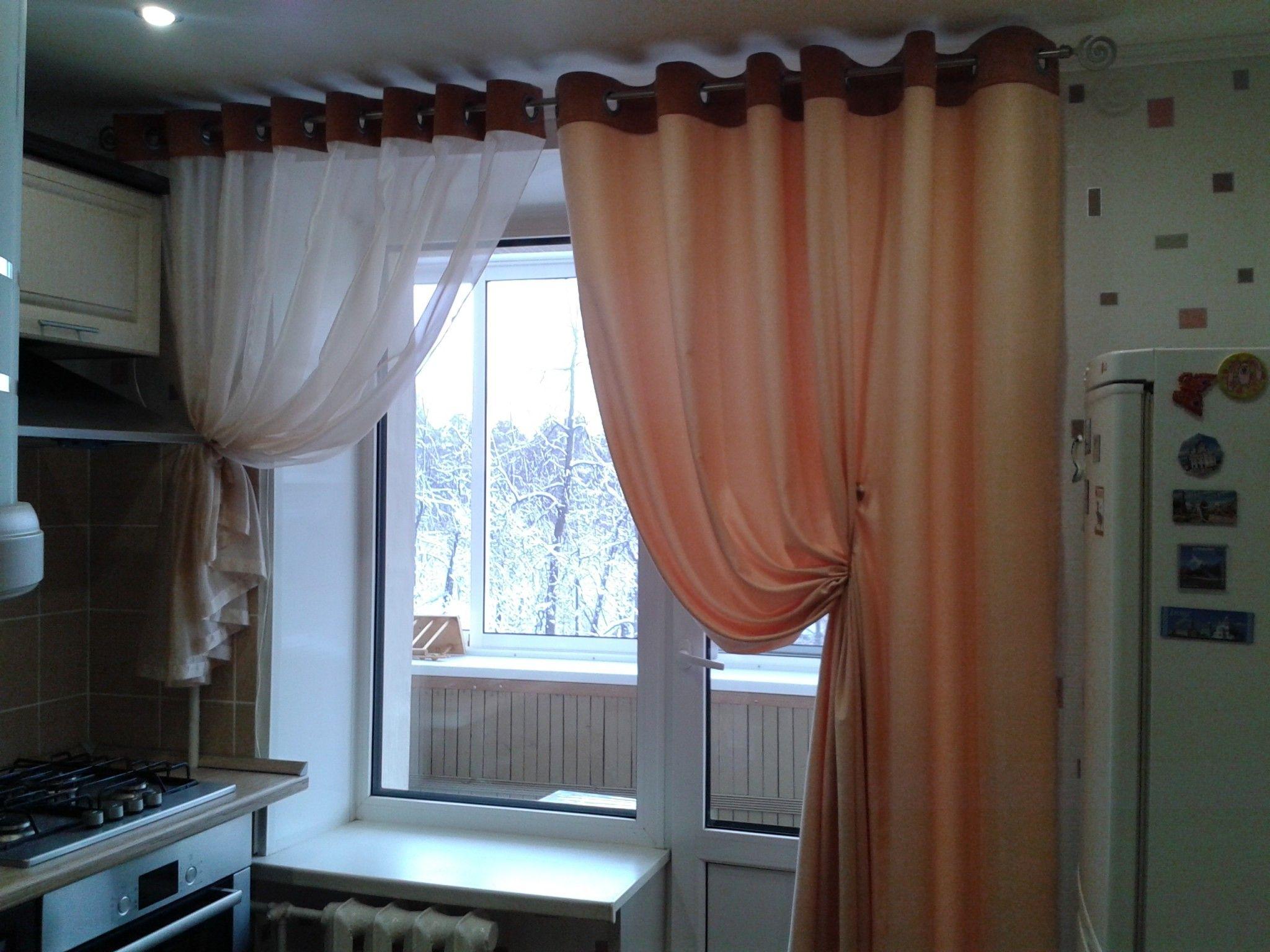 Шторы на кухню: в маленьком помещении нужно выбирать не ярких цветов