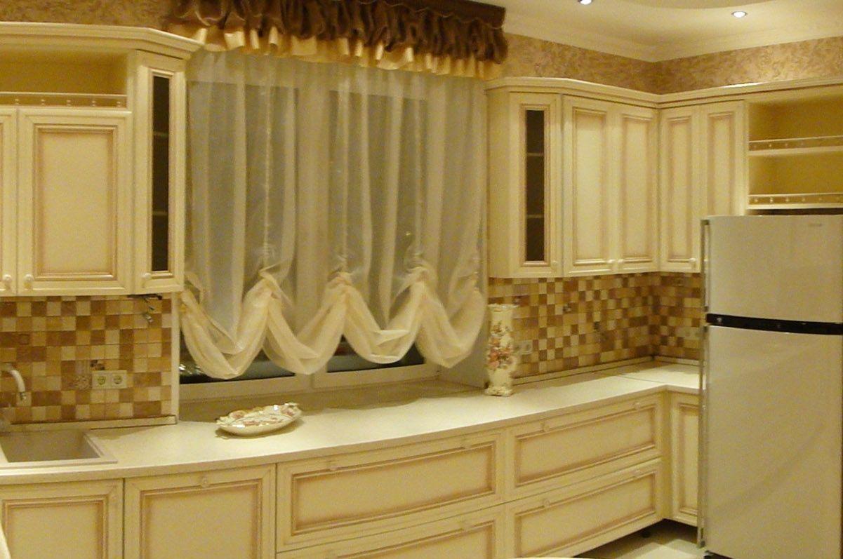 Шторы на кухню: на французские гардины необходимо много ткани
