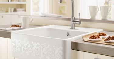 Элегантный дизайн керамической кухонной мойки от Villeroy&Boch