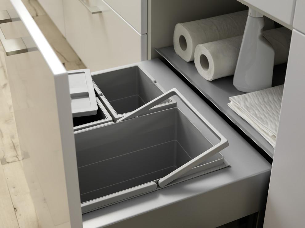 Выдвижные ящики в системе скрытого хранения