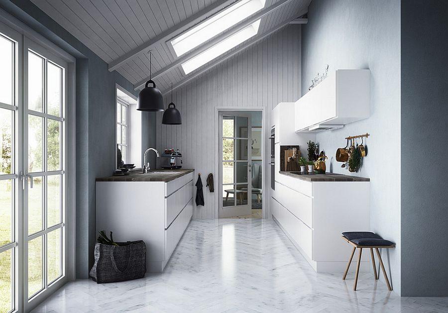 Скандинавский стиль в интерьере кухни - Фото 31
