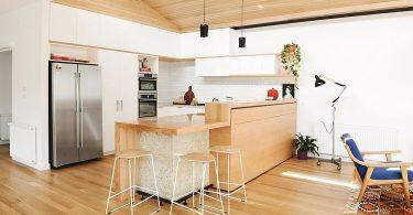 Скандинавский стиль в интерьере просторной кухни