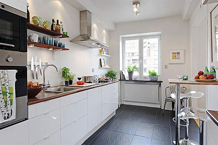Фото дизайна интерьера кухни в скандинавском стиле