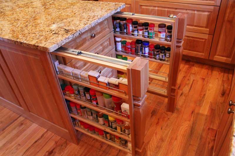 Деревянные скрытые ящики для кухни