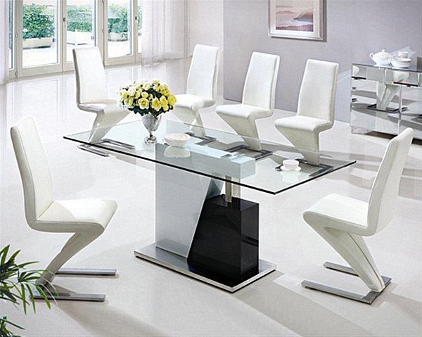 Прямоугольный длинный стол из закалённого стекла  Monaco Large  от Furniture Italia,