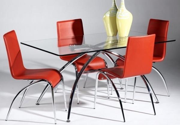 Прямоугольный длинный стол из закалённого стекла  LY-Elaine DT Modern Dining Table от LaFlaT
