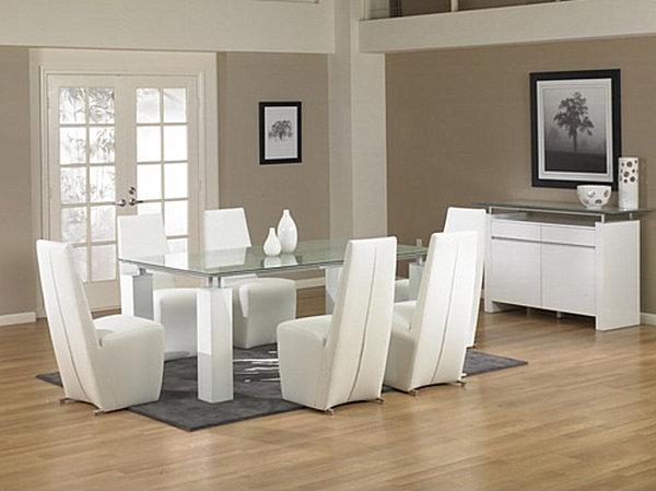 Прямоугольный длинный стол из закалённого стекла  Star International Ritz Tiffany от AllModern