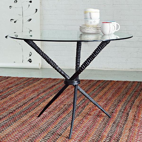 Круглый обеденный стол из закалённого стекла Source Oryx Dining Table
