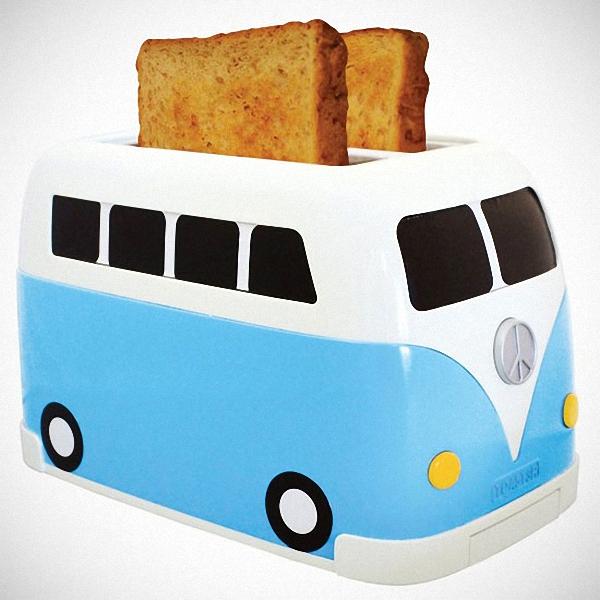 Креативный тостер в форме мини-автобуса
