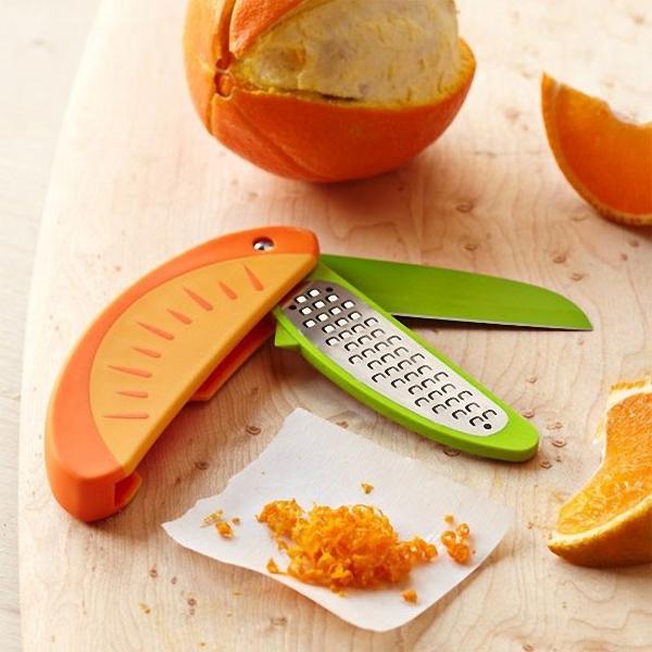 Специальный нож для снятия цедры с цитрусовых