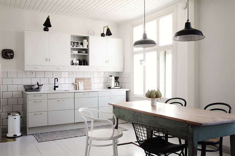 Оригинальное сочетание цветов в интерьере кухни