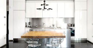 Современная кухня белого цвета от Abimis