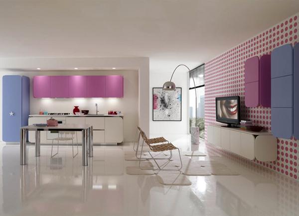 Яркая современная мебель для кухни