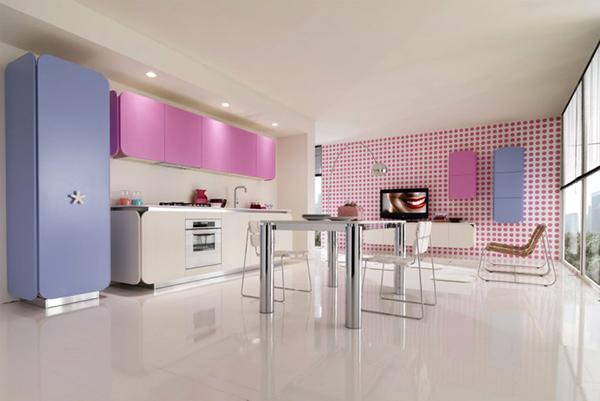 Современная мебель для кухни: металлический стол