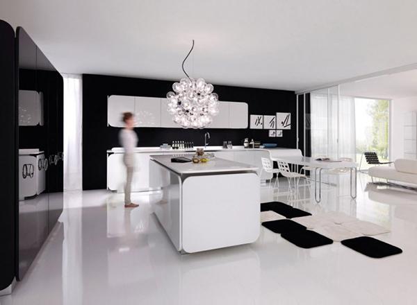 Современная мебель для кухни: дизайнерские белые стулья