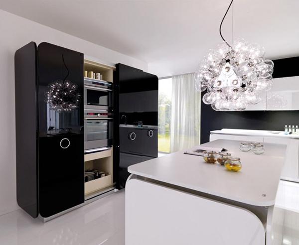Современная мебель для кухни: встроенная в шкаф бытовая техника