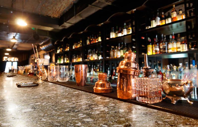 Столешницы Сorian и Zodiaq - выбор ресторанов, баров и кафе