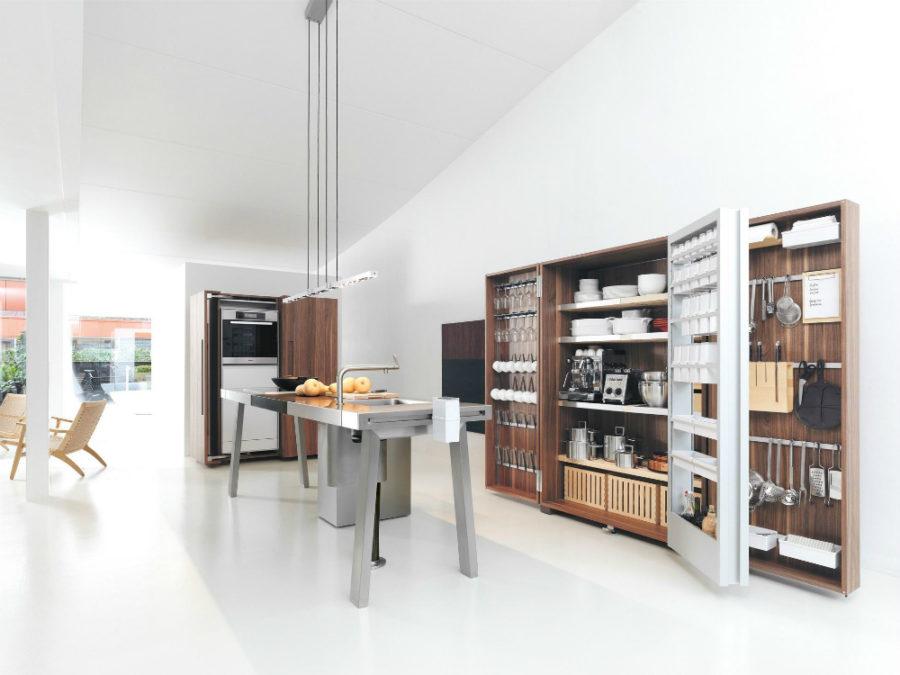 Современные дизайнерские кухни у вас дома - кухонные полки от Bulthaup