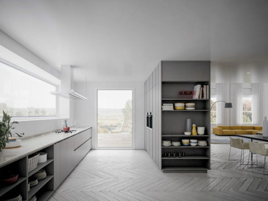 Современные дизайнерские кухни у вас дома - кухонный пенал от GD Arredamenti