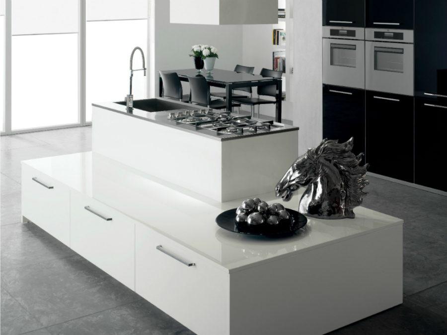 Современные дизайнерские кухни у вас дома - кухонный остров от Del Tongo